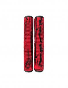 STRIKER LOGO GRIPS BLACK AND RED